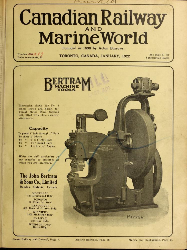1922 January CRMW info