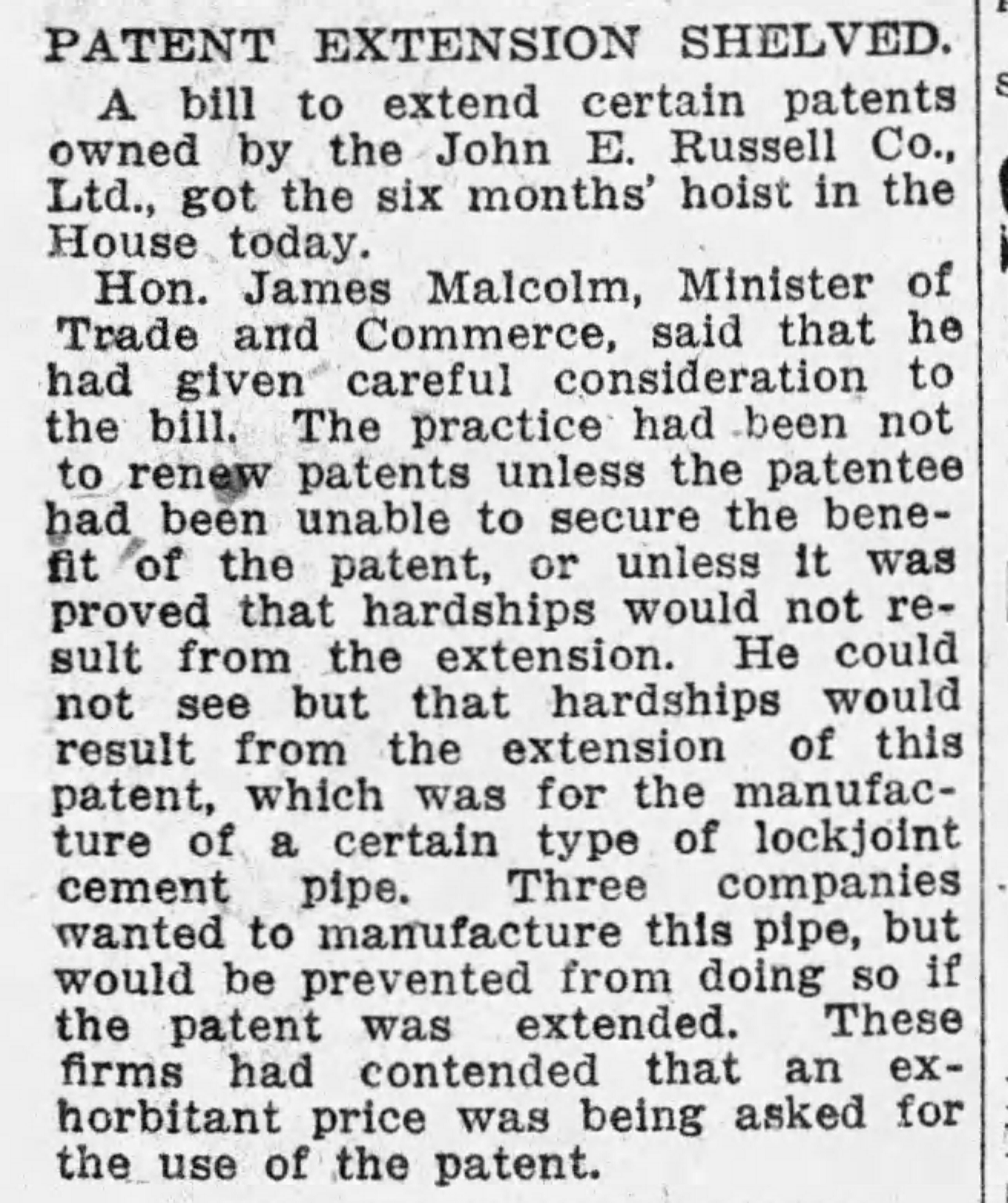 19270414 Gazette (Mtl) patent