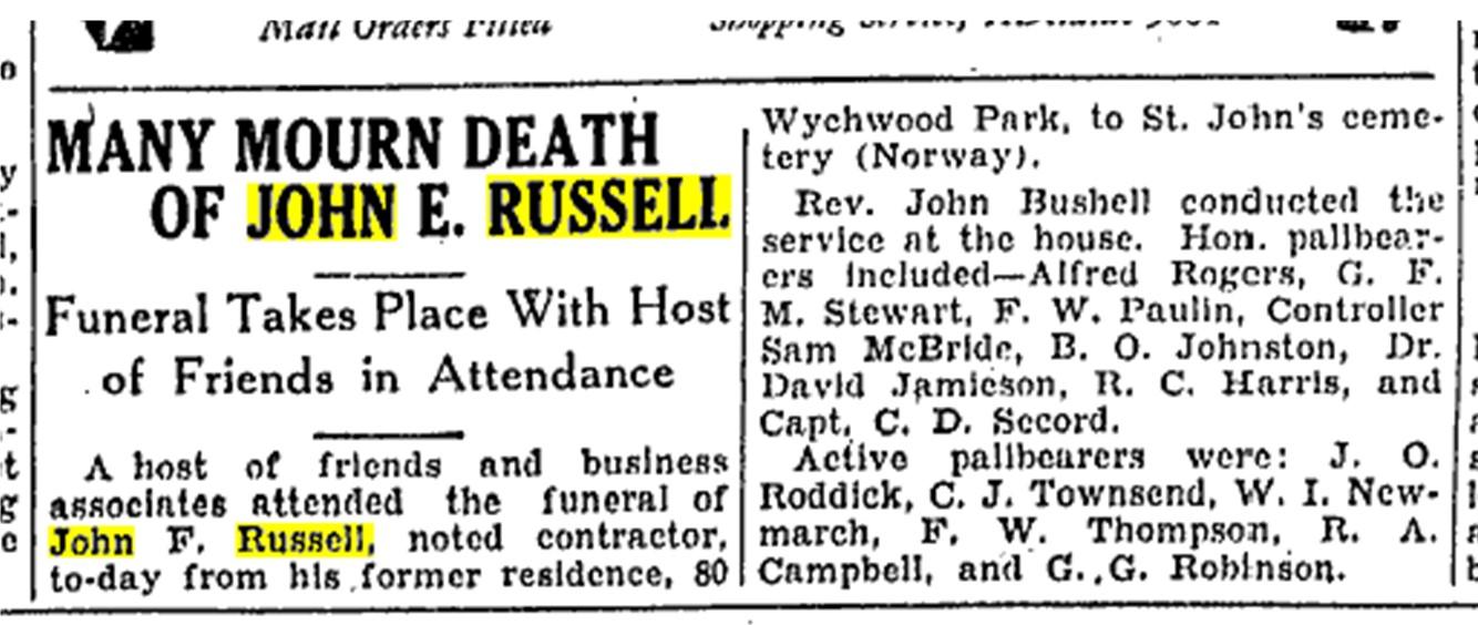 19340918 TS John E Russell funeral