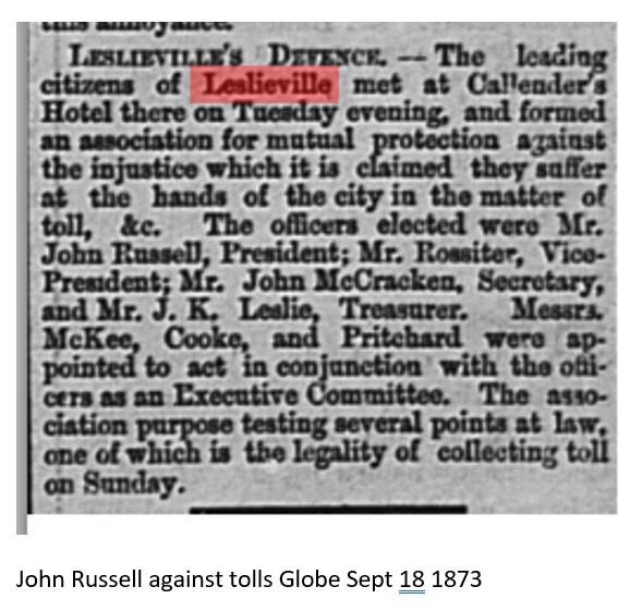 18730918 GL John Russell against tolls activist