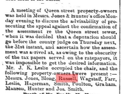 18880305 GL John Russell appeal assessment