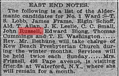 18961217 GL Candidates Ward 1 John Russell