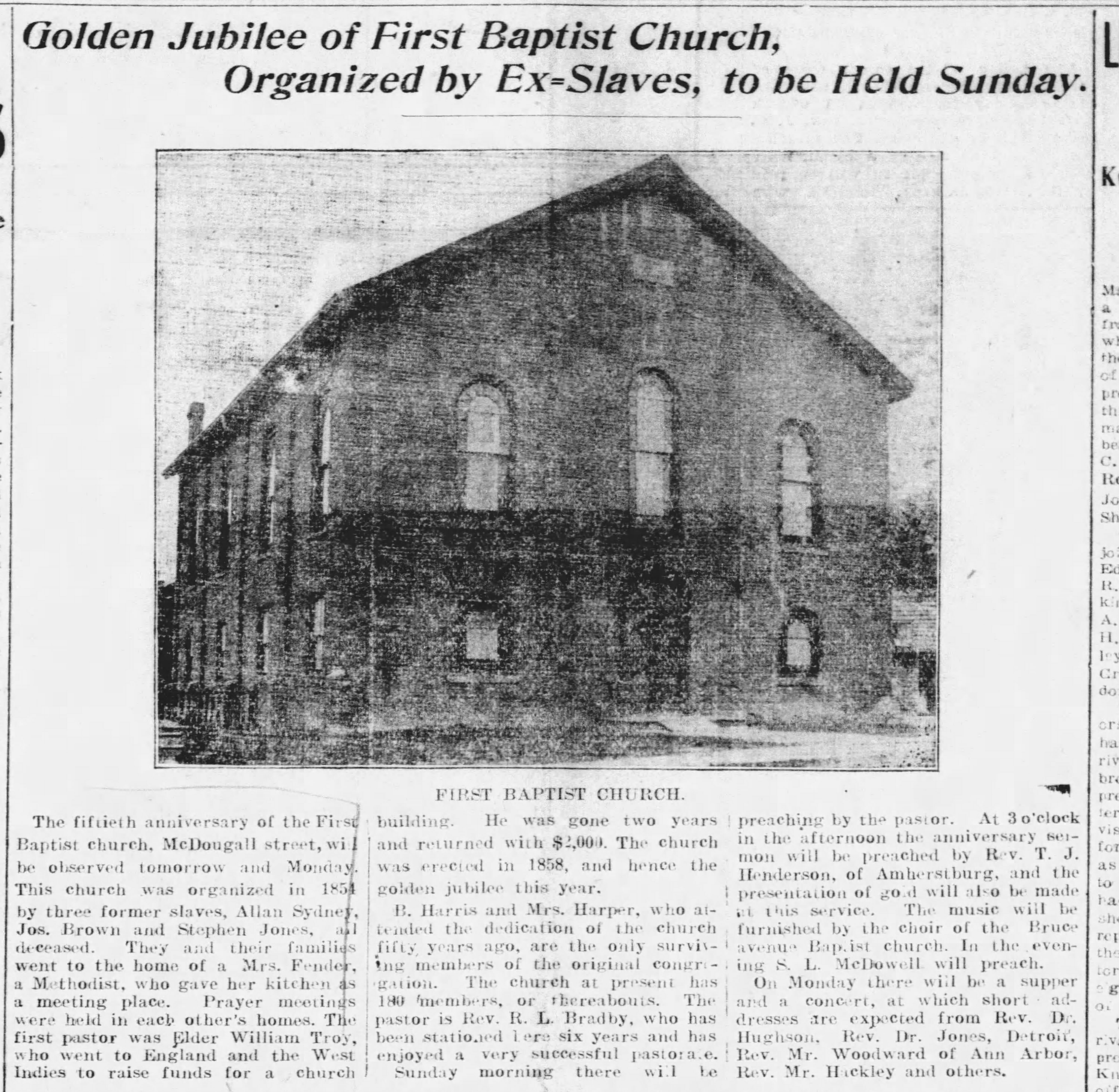19080525 First Baptist Church, Windsor, ON, The Windsor Star, May 23, 1908