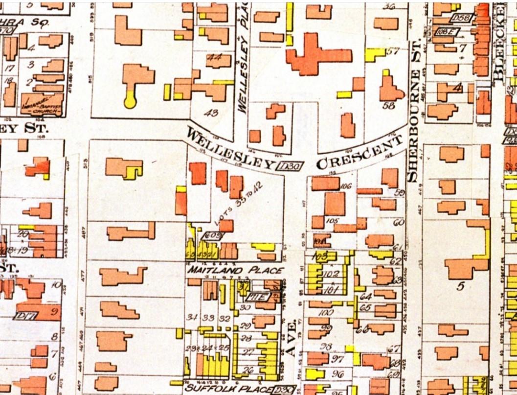 19120000 Goad's Atlas 165 Wellesley Cresc s.e. cor Sherbourne