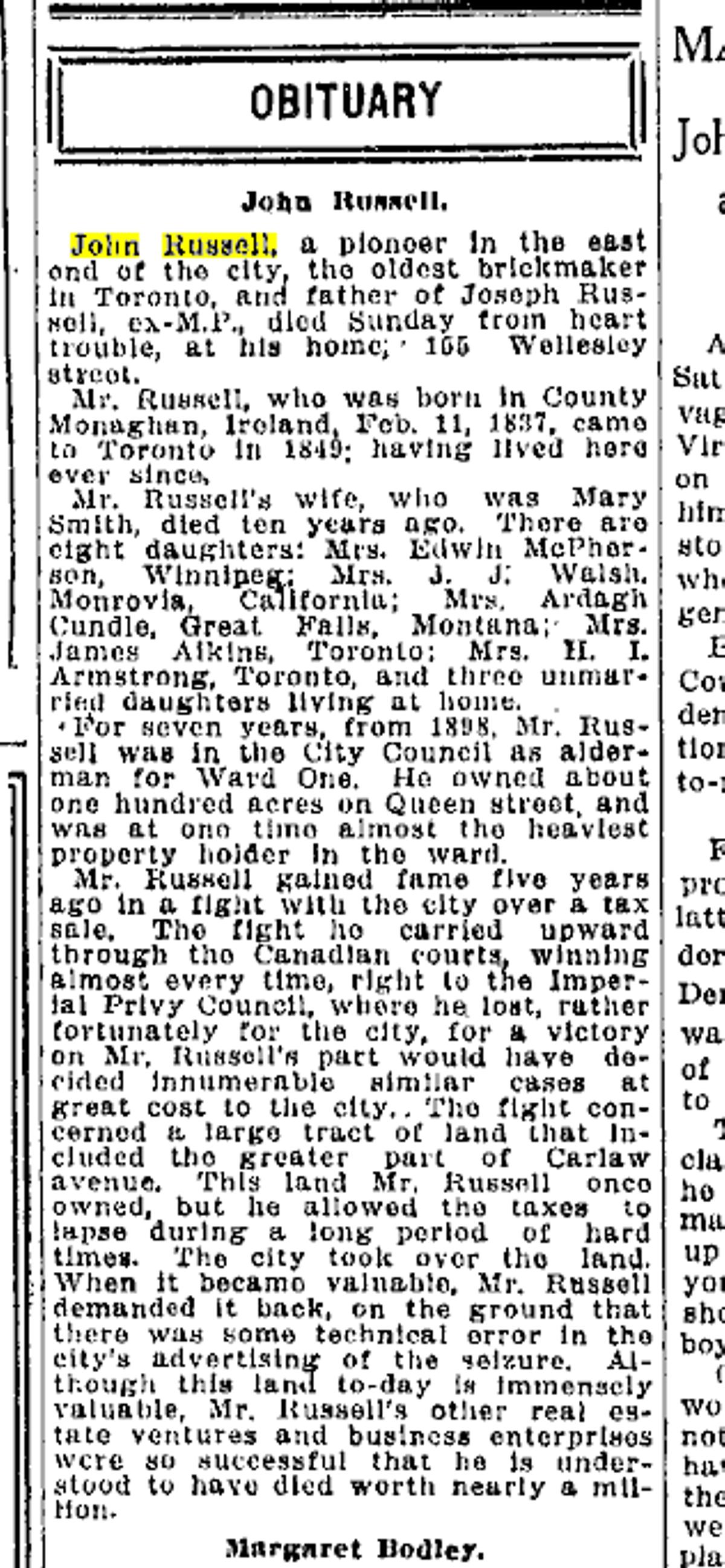 19120909 TS John Russell obituary