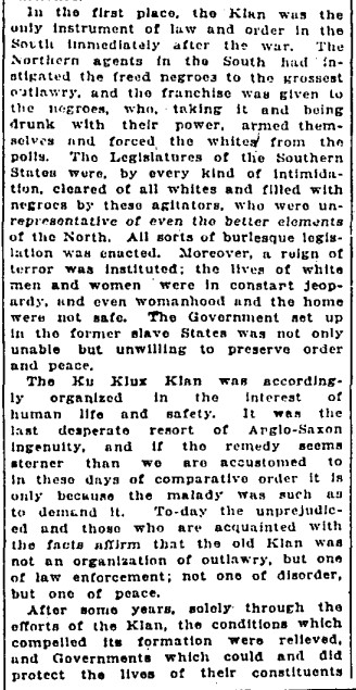 19210209 GL A defense of the KKK Letter to Editor, Globe, Feb. 9, 1921 2