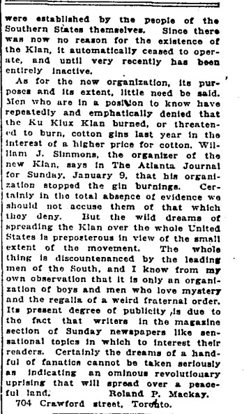 19210209 GL A defense of the KKK Letter to Editor, Globe, Feb. 9, 1921 3