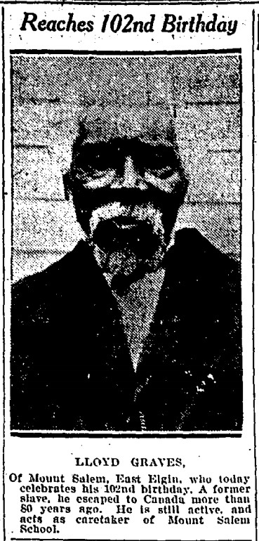 19260222 GL Lloyd Graves, 102 yrs old, Globe, Feb. 22, 1926