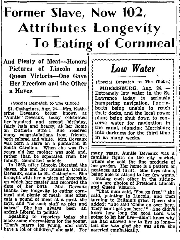 19330825 GL Katherine Deveaux, Globe, Aug. 25, 1933