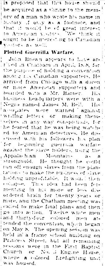 19410402 GM John Brown plotted in Chatham, Jeff Davis in Toronto, Globe and Mail, April 2, 1941 2