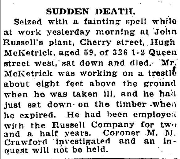 19220324 GL Sudden death McKetrick John E Russell worker