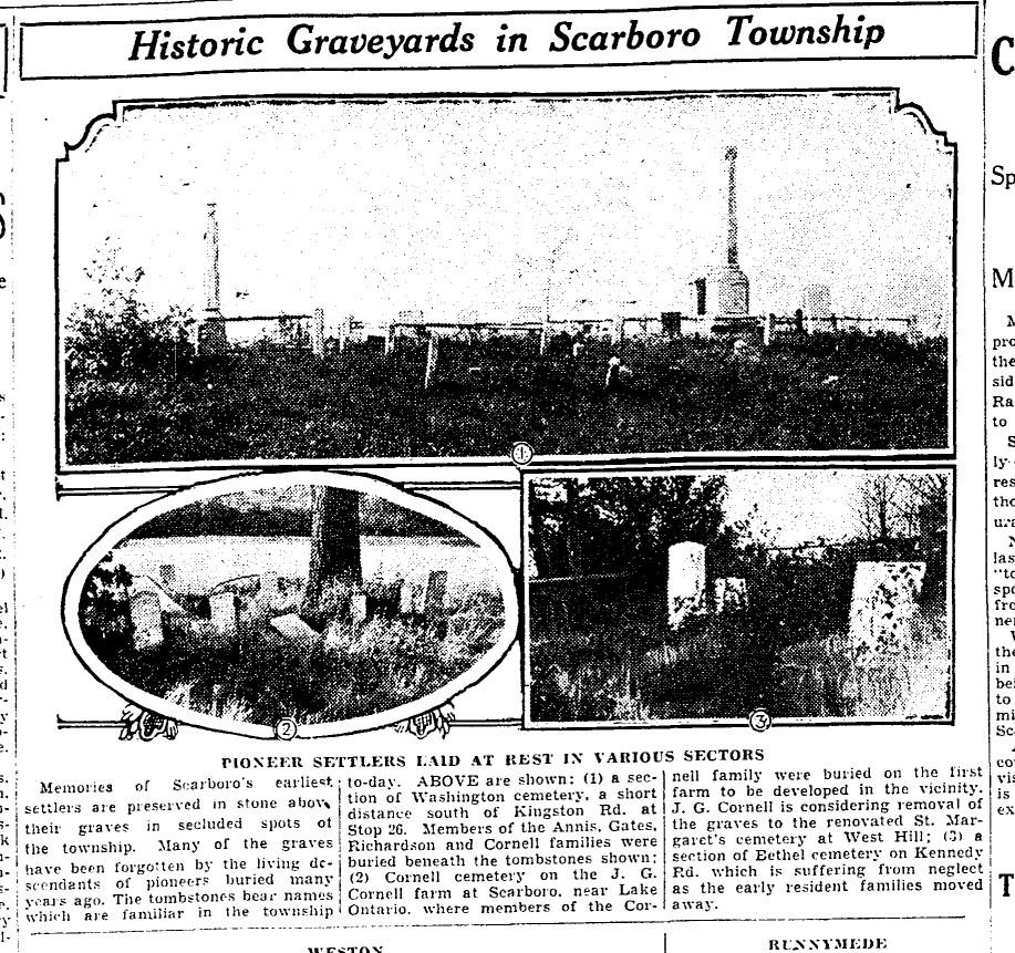19300306 TS Historic graveyards Scarborough