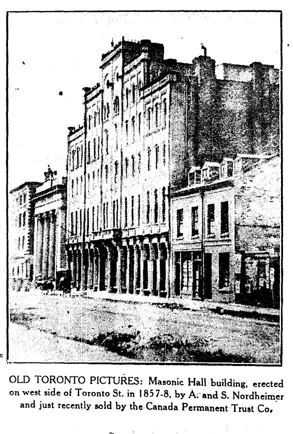 19300312 TS Masonic Hall Toronto Street