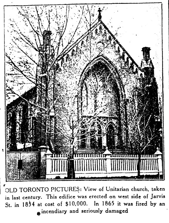19300314 TS Unitarian Church, Jarvis Street