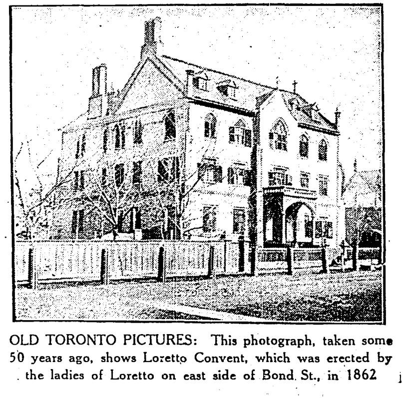 19300319 TS Loretto Convent Bond Street