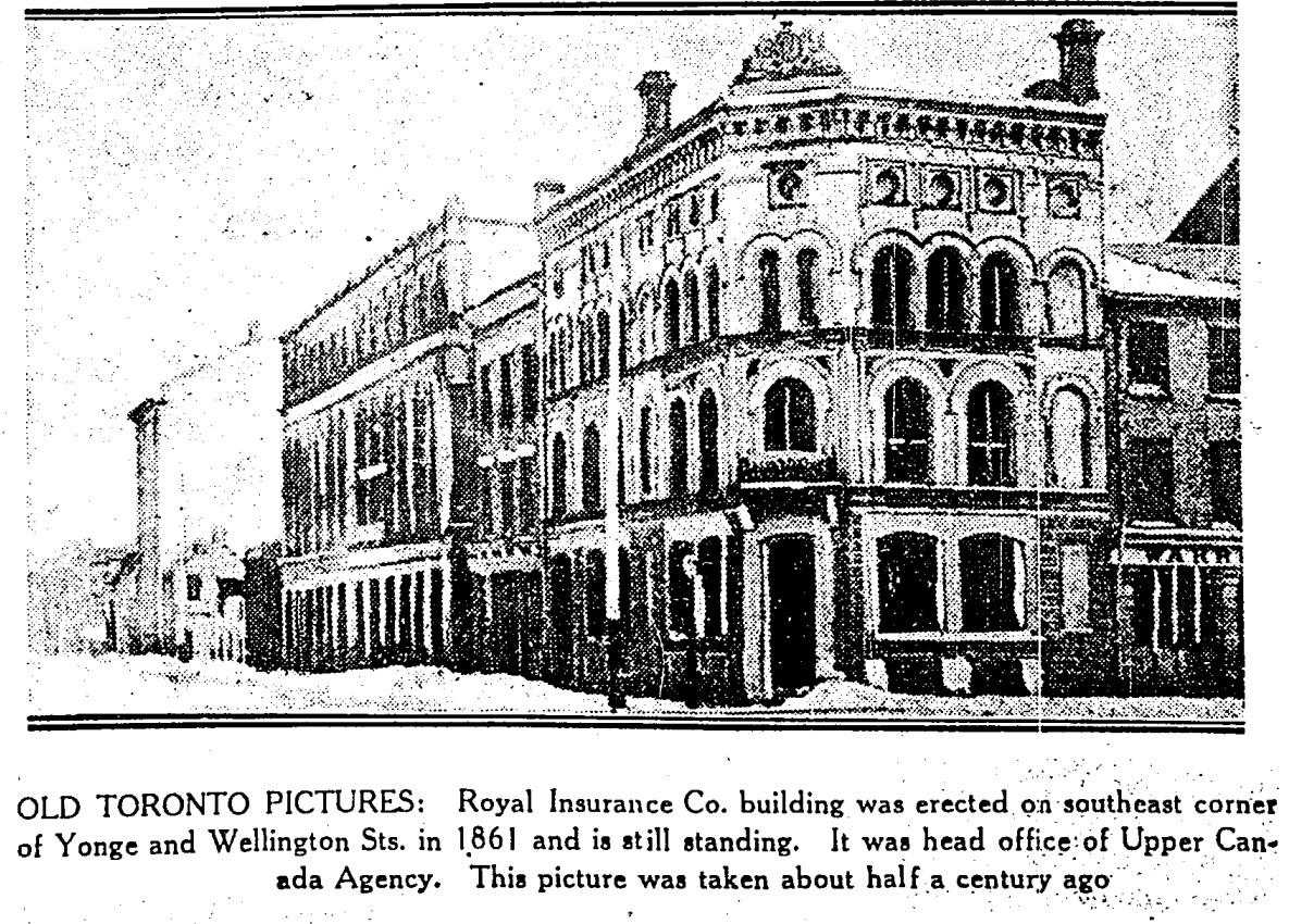 19300319 TS Royal Insurance Co Yonge and Wellington
